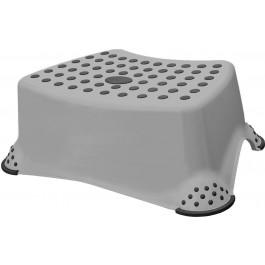 Plastový taburet mini, šedý, 40x28x14 cm