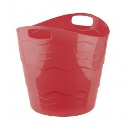 Plastový koš FLEX, 30 l, červený - POSLEDNÍCH 5 KS
