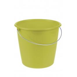 Kbelík s kovovou rukojetí, zelený, 10l - POSLEDNÍ 4 KS