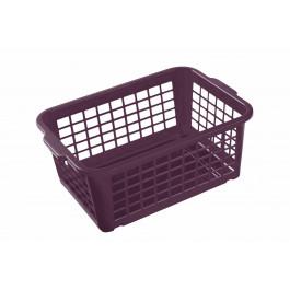 Plastový košík, malý, fialový, 25x17x10cm - POSLEDNÍCH 35 KS