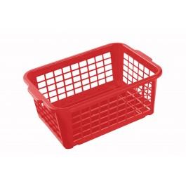 Plastový košík, střední, červený, 30x20x11 cm