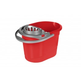 Kbelík se ždímacím systémem pro mop, červený, 13 l - POSLEDNÍ 3 KS