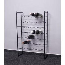 Stojan na víno Klasik, 48 lahví, černý, 92x58x23 cm