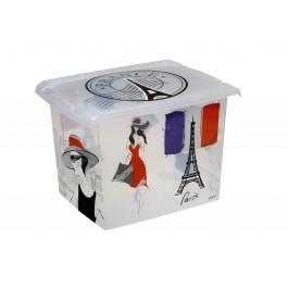 "Plastový box Fashion, ""FRANCE"", 39x29x27cm"