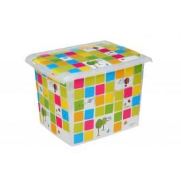"""Plastový box Fashion, """"KIDS"""", 39x29x27 cm - POSLEDNÍCH 8 KS"""
