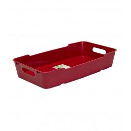 Plastový box LOFT 5,5 l, tmavě červený, 40x22x7 cm.
