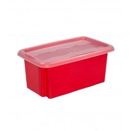 Plastový box Colours, 7 l, červený s víkem