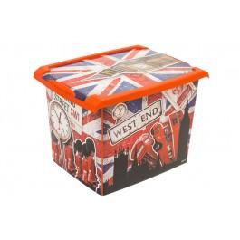 """Plastový box Fashion, """"LONDON"""", 39x29x27cm - POSLEDNÍ 3 KS"""