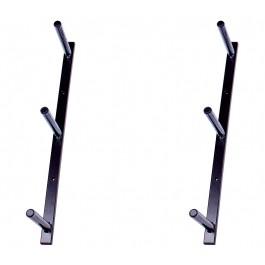 Nástěnný držák na lyže, 3 místný, černý