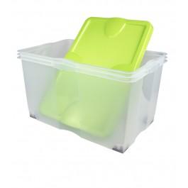 Plastový box Roll, zelený, 60x40x35 cm