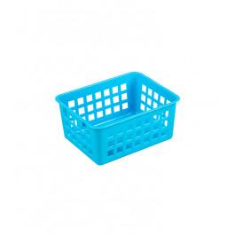 Plastový košík, A7 modrý, 14x11x6 cm