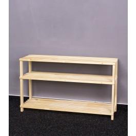 Dřevěný botník RBO-3, 45x77x26 cm