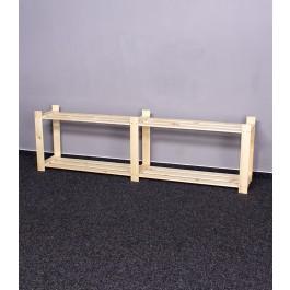Dřevěný regál, 2 police