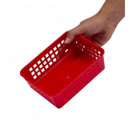 Plastový košík, A6 červený, 18,5x14x6 cm