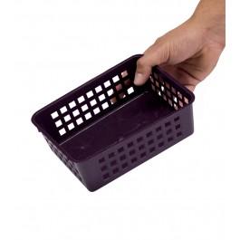 Plastový košík, A6 fialový, 18,5x14x6 cm