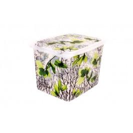 """Plastový box Fashion, """"Spring"""", 39x29x27cm"""
