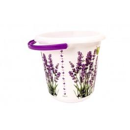 """Plastový kbelík Fashion """"Levandule"""", 30x28 cm, Objem 10l."""