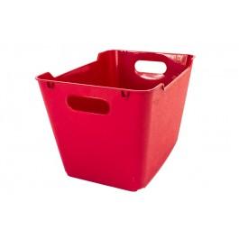 Plastový box LOFT 20 l, tmavě červený, 40x28x25 cm.