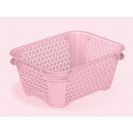 Plastový košík Mirko, A7, růžový, 16x12x7 cm