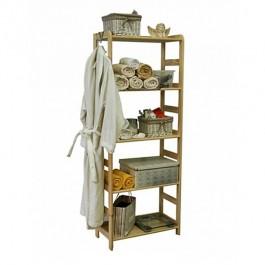 Dřevěný regál Rosar, 5 polic, 166x66x33 cm