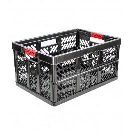 Plastový skládací box, velký, grafit, 54x37x28 cm