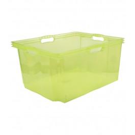 Plastový box Multi XXL, svěží zelený, bez víka, 52x43x26 cm