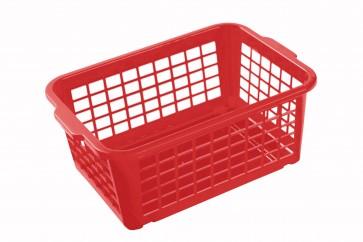 Plastový košík malý červený 25x17x10cm