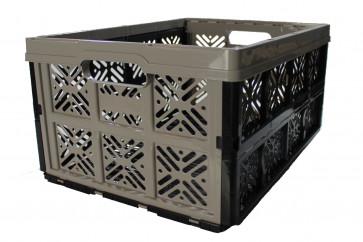 Plastový skládací box, malý, šedý