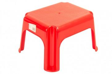 Plastový taburet červený, 36,5x30x24 cm - POSLEDNÍCH 5 KS