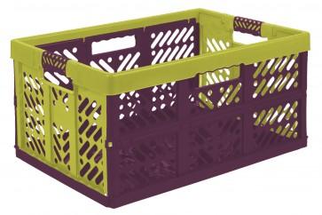 Plastový skládací box, velký, vícebarevný, 54x37x28 cm