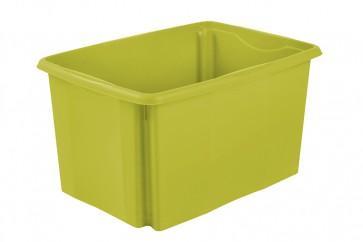 Plastový box Colours, 45 l, zelený bez víka, 55x39,5x29,5 cm - POSLEDNÍ 3 KS