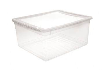 Plastový box Basixx 18 l, průhledný.