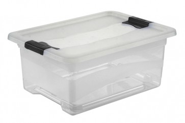 Plastový box Crystal 12 l, průhledný, 39,5x29,5x17,5 cm
