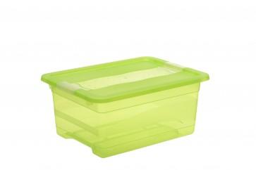 Plastový box Crystal 12 l, svěží zelený, 39,5x29,5x17,5 cm