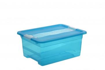 Plastový box Crystal 12 l, svěží modrý, 39,5x29,5x17,5 cm