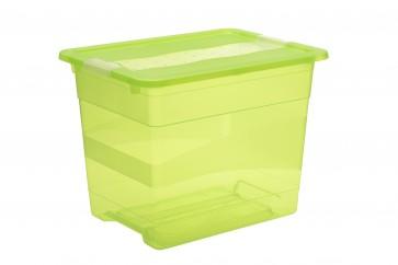Plastový box Crystal 24 l, svěží zelený, 39,5x29,5x30 cm