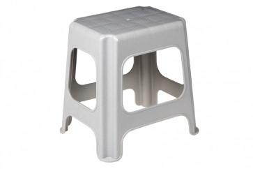 Plastový taburet maxi, šedý, 41x33,5x42,5 cm