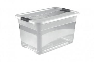 Plastový box Crystal 52 l, průhledný, 59,5x39,5x34 cm