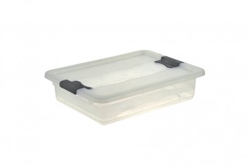 Plastový box Crystal 7 l, průhledný, 39,5x29,5x9,5 cm