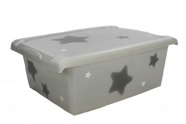 """Plastový box Fashion, """"Hvězda"""", 39x29x14cm"""