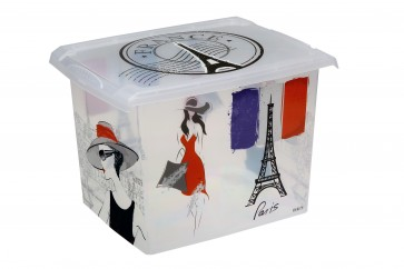 "Plastový box Fashion, ""FRANCE"", 39x29x27cm"
