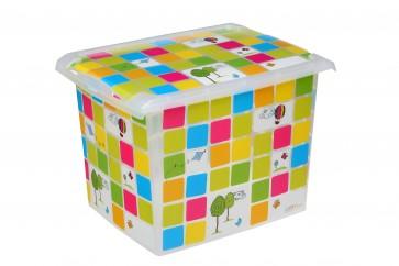 """Plastový box Fashion, """"KIDS"""", 39x29x27 cm - POSLEDNÍCH 7 KS"""