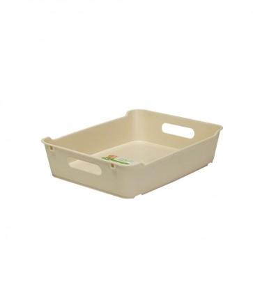 Plastový box LOFT A5, krémový, 28x22x6,5 cm - POSLEDNÍCH 15 KS