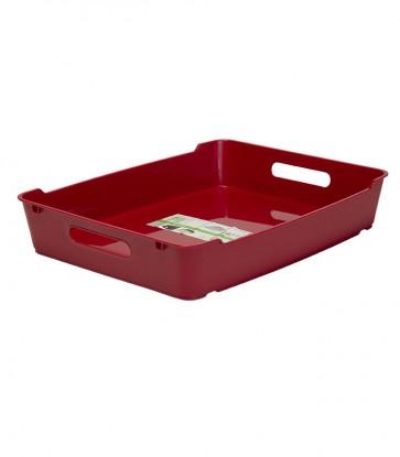 Plastový box LOFT A4, tmavě červený, 37x28,5x6,5 cm