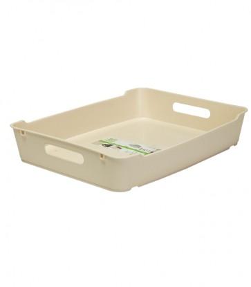 Plastový box LOFT A4, krémový, 37x28,5x6,5 cm POSLEDNÍ 4 KS