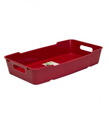 Plastový box LOFT 5,5 l, tmavě červený, 40x22x7 cm - POSLEDNÍ KUS