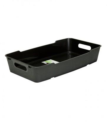 Plastový box LOFT 5,5 l, grafit, 40x22x7 cm - POSLEDNÍCH 11KS