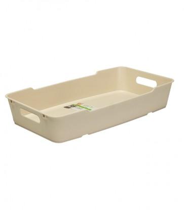 Plastový box LOFT 5,5 l, krémový, 40x22x7 cm - POSLEDNÍ 4 KS