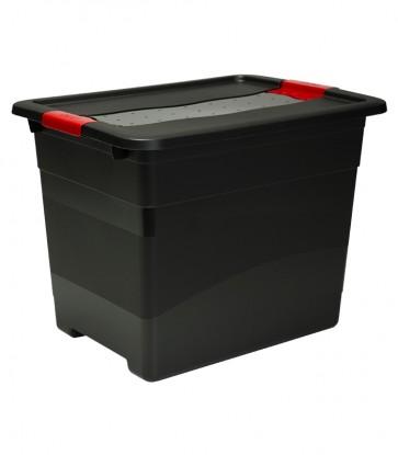 Plastový box Crystal – SOLIDO 24 l, grafit - POSLEDNÍ KUS