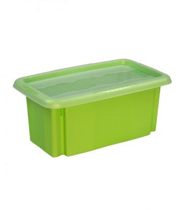 Plastový box Colours, 7 l, zelený s víkem
